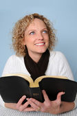 Young Woman With Bible — Stock Photo