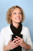 Woman with Bible — Stock Photo