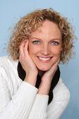 Donna sorridente — Foto Stock