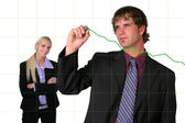 Businessman Charting Growth — Stock Photo