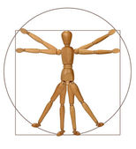 Vitruvian Man (A Modern Rendition) — Stock Photo