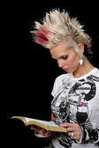 Punk Girl With Bible — Stock Photo