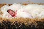 Baby Jesus in Krippe — Stockfoto