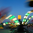Stock Photo: Amusement Park at Dusk