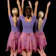 Ballerinas Raising Arms — Stock Photo #16639379