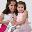 Two Hispanic Sisters — Stock Photo