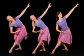 Three Ballerinas — Stock Photo