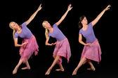 Three Ballerinas — Stock Photo