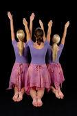 Ballerines levant bras — Photo