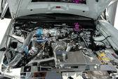 Motor cromado do carro — Foto Stock