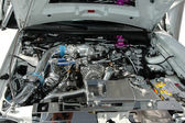 Motore della vettura di cromo — Foto Stock
