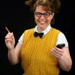 chica nerd — Foto de Stock