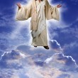Jesus on a Cloud - Stock Photo