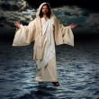 Foto Stock: Jesus Walking on water
