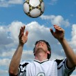 Soccer player and Ball — ストック写真