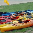Kayaks on Shore — Stock Photo #16856375
