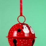 Christmas ornament with snowmen — Stock Photo