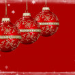 Christmas Background With Snow Border — Stock Photo