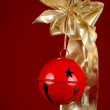 Christmas Bell and Ribbon — Foto de Stock