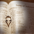Wedding Ring and Bible — Stock Photo