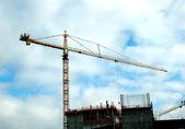 Crane and building — Stock Photo