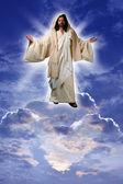 Jesus on a Cloud — Stock Photo