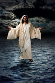 Jesus Walking on the water — Stock Photo