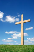 Cross and blue sky — Stock Photo