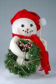 Old Christmas Snowman — Stock Photo