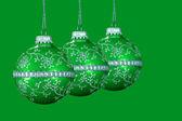 Green Christmas Balls — Stock Photo