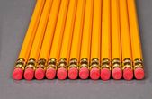 Pencils Alined Together — Stok fotoğraf