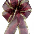 Christmas Burgundy Bow — Stock Photo