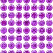 Web Icons in purple - Stock Photo