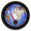 Stock Photo: World Gasoline Meter