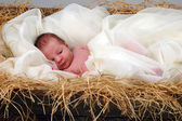 Jesus in a manger — Stock Photo