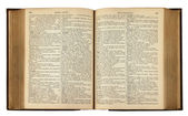 Vintage kitap metin — Stok fotoğraf