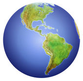 Earth showing North, Central, and South America. — Stock Photo