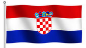Flag of Croatia Waving — Stock Photo