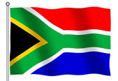 Flag of South Africa Waving — Stock Photo