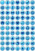 Web Icons in blue — Stock Photo