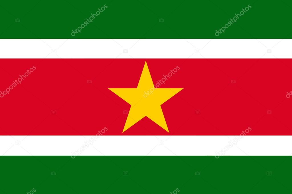 Flag of Suriname — Stock Photo #16860439