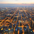 Aerial View of City of Chicago — Foto Stock