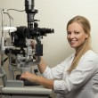 Female Eye Doctor — Stock Photo