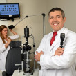 Stock Photo: Eye Doctor and Essistant in Examination Room