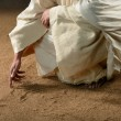 Jesus Writting in the Sand — Stock Photo #18414995