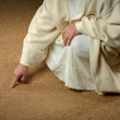Jesus Writing in the Sand — Stock Photo