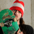 Young Man Holding Skateboard — Stock Photo