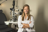 Female Eye Doctor in Examintaion Room — Stock Photo