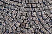 Geplaveide rijbaan textuur — Stockfoto