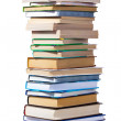Stock Photo: Big pile of books isolated on white background